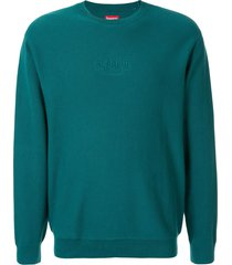 supreme piqué sweatshirt - green