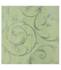 kit 2 rolos de papel de parede fwb fundo amarelo folhas prateada