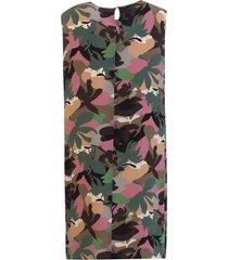 aspesi abstract floral-print dress