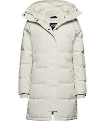 ida jacket gevoerde lange jas wit svea