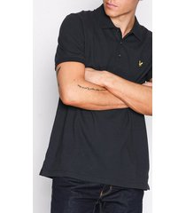 lyle & scott plain polo shirt piké true black
