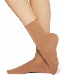 calzedonia - wool and cotton short socks, one size, brown, women
