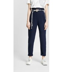 baggy trousers with string - blue - s