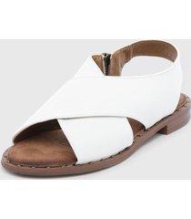 sandalia blanco agua de coco
