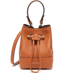 lana osette' top handle drawstring leather bucket bag