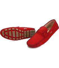 zapato rojo preppy clz nubuck rojo / salomon crepe