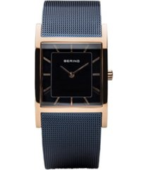 bering ladies' classic tank case and mesh watch