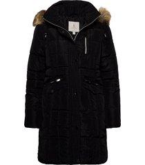 coat outerwear heavy parka lange jas jas zwart brandtex