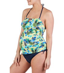 women's cache coeur aloha tankini maternity swimsuit, size xx-large - none