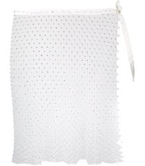 la reveche izar sheer mini skirt - white