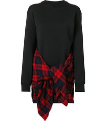 dsquared2 panelled sweatshirt - black