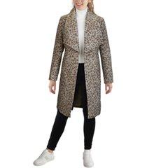 cole haan leopard wrap coat