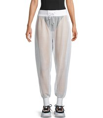 poolside mesh jogging pants