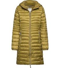 coats woven gevoerde lange jas groen esprit casual