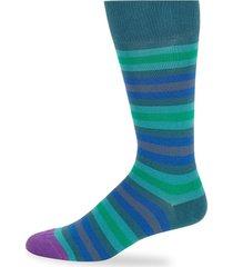 paul smith men's urban stripe socks - green
