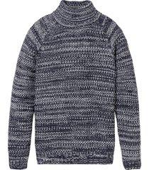 maglione a collo alto (blu) - rainbow