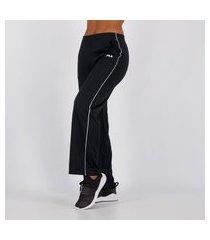 calça fila pantalona feminina preta