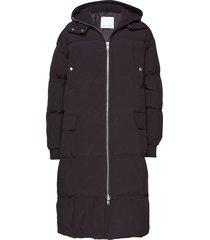 madge jacket 8276 gevoerde lange jas zwart samsøe & samsøe