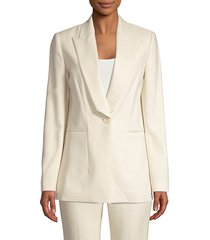 elie tahari women's dahlia peak-lapel tailored blazer - lacewood - size 16