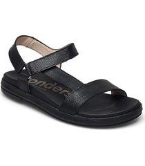 b-7410 willer shoes summer shoes flat sandals svart wonders