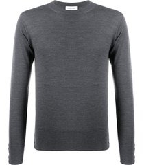 thom browne merino wool crew-neck pullover - grey