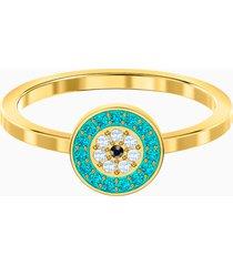 anello luckily, multicolore, placcato oro