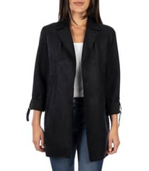 women's kut from the kloth faye long jacket, size large - black