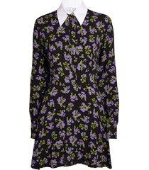 floral shirt mini dress