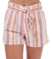 womens tavi stripe paperbag shorts
