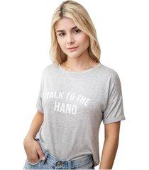 camiseta estampada gris hand