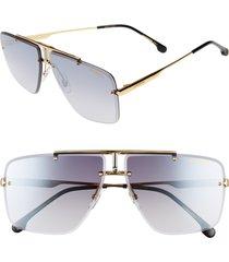 carrera eyewear 64mm navigator sunglasses in gold black at nordstrom