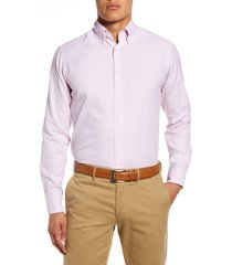 men's eton soft casual line slim fit oxford shirt, size 17 - pink