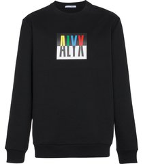 1017 alyx 9sm logo crew neck sweatshirt - black