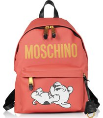 moschino designer handbags, mandarin coated canvas and leather backpack