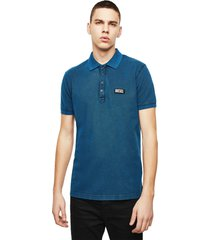 polera t randy new s3 polo shirt azul diesel