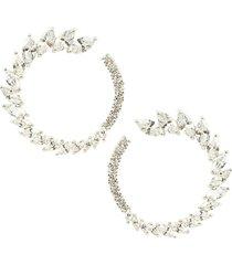eye candy la women's luxe crystal hoop earrings