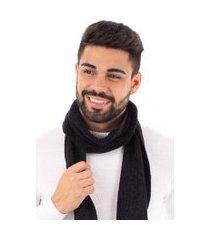 manta masculina de malha chenille sumaré 10443 preto