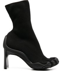balenciaga split-toe pull-on booties - black
