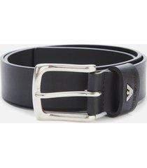 emporio armani men's tongue belt - black - eu 100/w40