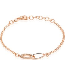 bracciale in ottone bronzato e glitter bronzo per donna