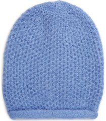 women's free people dreamland knit beanie - blue