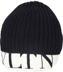 valentino branded beanie hat