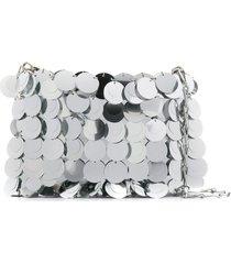 paco rabanne sparkle 1969 sequin shoulder bag - silver