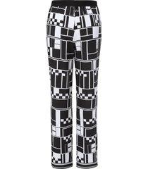 broek met grafische print van emilia lay zwart
