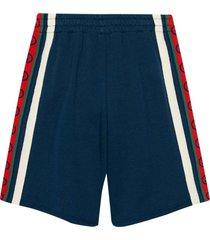 gucci blue bermuda shorts