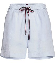abo linen short shorts flowy shorts/casual shorts blå tommy hilfiger