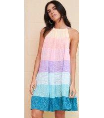 pitusa popsicle halter mini dress pastel rainbow