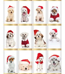 12-piece christmas dogs in hats slim milk chocolate bars