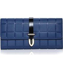billetera mujeres- cartera de embrague de la tendencia-azul