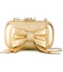 corto moltedo susan bow clutch - gold